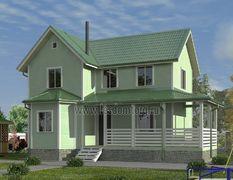 Каркасный дом 8х12 Альтаир-3К