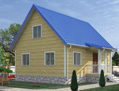 Каркасный дом 7.5x8.0 «Алтай-1К»