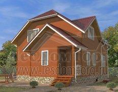 Дом из бруса, проект Азов-1