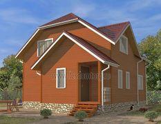 Дом из бруса 9х10.5 Азов-3