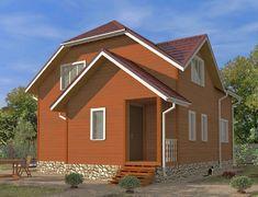 Дом из бруса, проект Азов-1 (ДК-049)