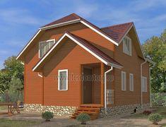 Дом из бруса 8.0x9.5 «Азов-2»