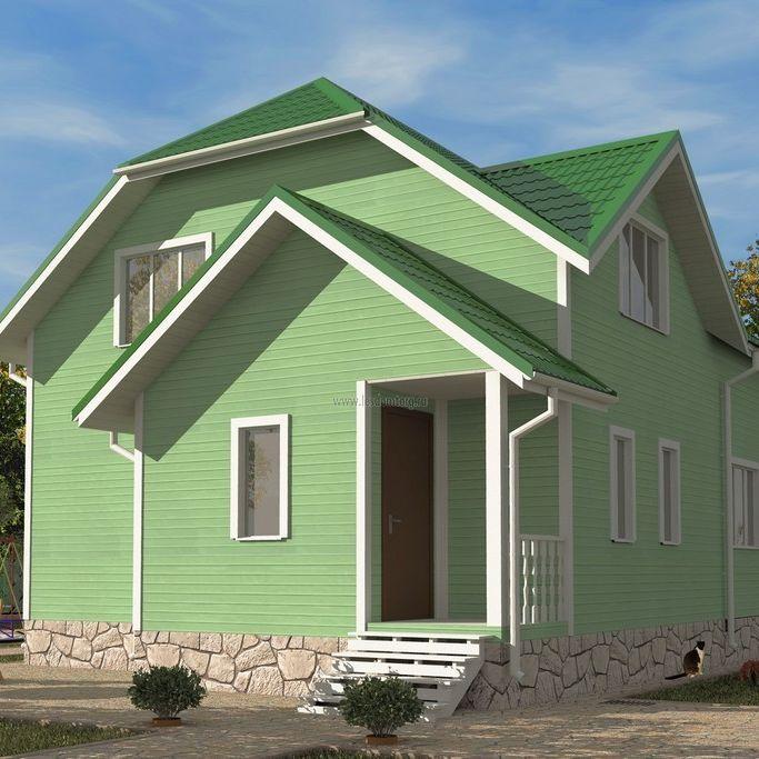 Каркасный дом 8х9.5 «Азов-2К»