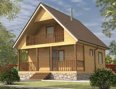 Дом из бруса 7.0x7.0 «Байкал-2»