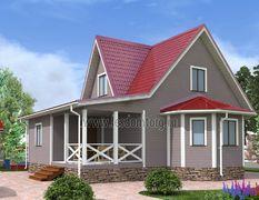 Каркасный дом 11х11 Цезарь-3К