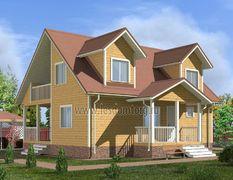 Дом из бруса 10.5х11 Чародей-3