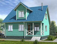 Дом из бруса 9х9 Дачник-3