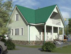 Каркасный дом 8.0x9.0 «Добрыня-2К»