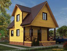 Дом из бруса 6.0x8.0 «Домодедово-2»