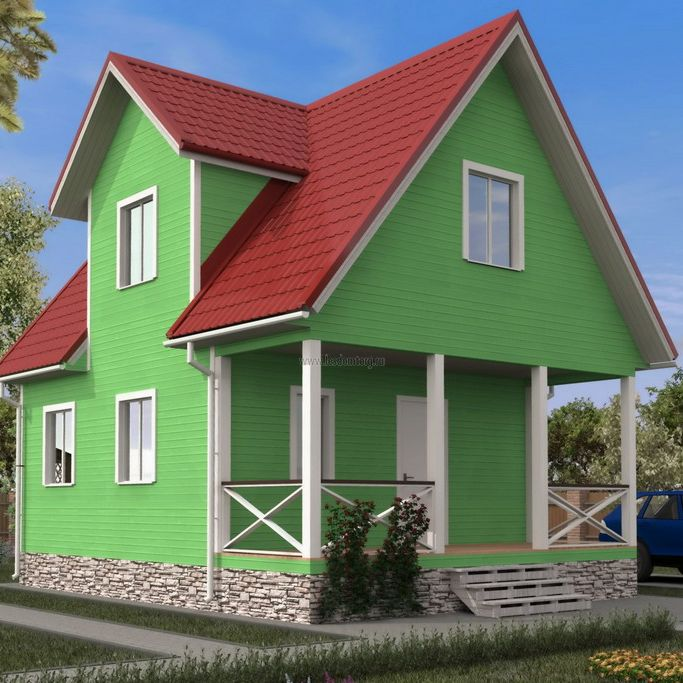 Каркасный дом 6х8 «Домодедово-2К»