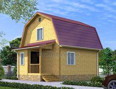 Дом из бруса 5х6.5 Эльбрус-1