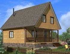 Дом из бруса 8х10 Енисей-3