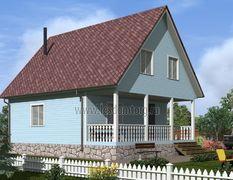 Каркасный дом 8х10 Енисей-3К