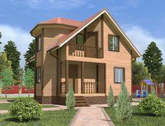 Дом из бруса 7.5x8.0 «Ермак-2»