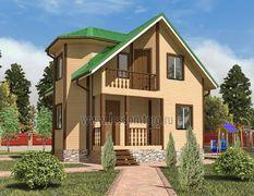 Каркасный дом 9х9 Ермак-3К