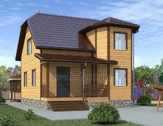 Дом из бруса 8х9.5 Эстет-3