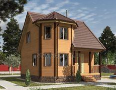 Дом из бруса 8х8 Флагман-3