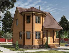 Дом из бруса 7.0x7.0 «Флагман-2»