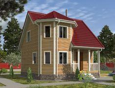 Каркасный дом 7.0x7.0 «Флагман-2К»