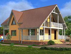 Дом из бруса 11х12.5 Гефест-3