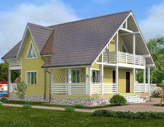 Каркасный дом 11х12.5 Гефест-3К