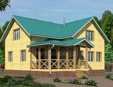 Дом из бруса 11х12.5 Икар-3