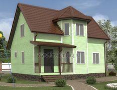 Каркасный дом 8х10 Ирис-3К