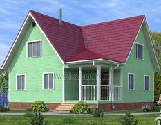 Каркасный дом 10х10 Канцлер-3К