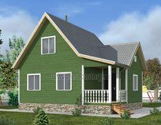 Дом из бруса 8х9 Карпаты-3