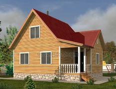 Каркасный дом 8х9 Карпаты-3К