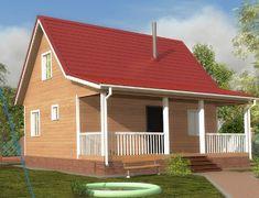 Дом из бруса 8.0x8.0 «Кондор-2»