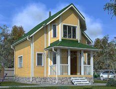 Каркасный дом 8х8.5 Лидер-3К