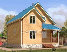 Дом из бруса 6х7 Лотос-1