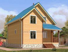 Дом из бруса 7.0x7.0 «Лотос-2»
