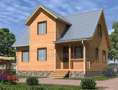 Дом из бруса 6.0x8.0 «Неон-1»