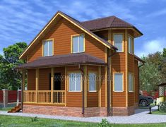 Дом из бруса 8.0x8.0 «Печенег-2»