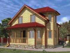 Каркасный дом 7.0x7.0 «Печенег-1К»