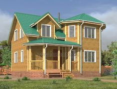 Дом из бруса 8.0x9.0 «Радонеж-2»