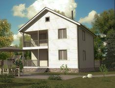 Каркасный дом 8.0x8.0 «Садовод-2К»