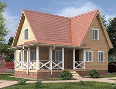 Дом из бруса 8.0x10.5 «Сахалин-2»