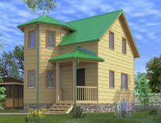 Каркасный дом 6.0x6.5 «Сенеж-1К»
