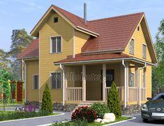 Дом из бруса 8.5x9.5 «Терем-1»
