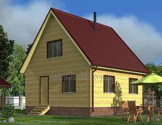 Каркасный дом 8х8 Теремок-3К