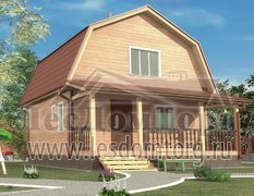 Дом из бруса под ключ, размером 6.0 х 8.0 м