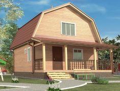 Дом из бруса 6.0x7.5 «Урал-1»