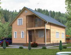 Дом из бруса 7.0x9.0 «Василек-1»