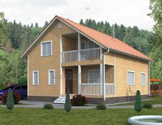 Каркасный дом 9х11 Василек-3К