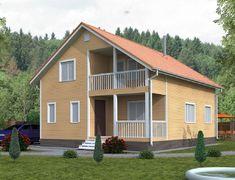 Каркасный дом 7.0x9.0 «Василек-1К»