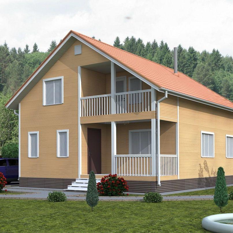 Каркасный дом 7х9 «Василек-1К»