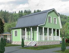 Каркасный дом 8.5х8.5 Витязь-3К
